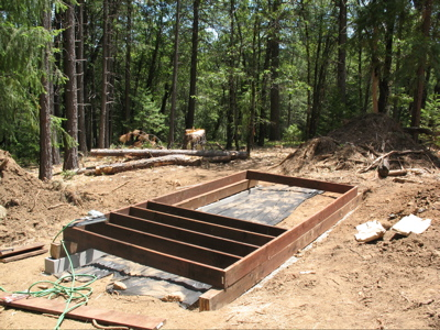 Laying the interior joists