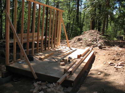 Lumber for second long wall