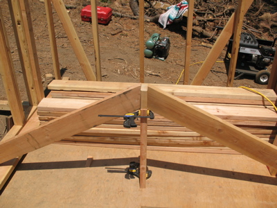 Testing rafter fit