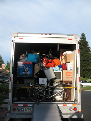 A full moving truck
