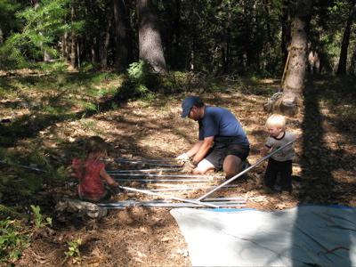 Sorting tent poles